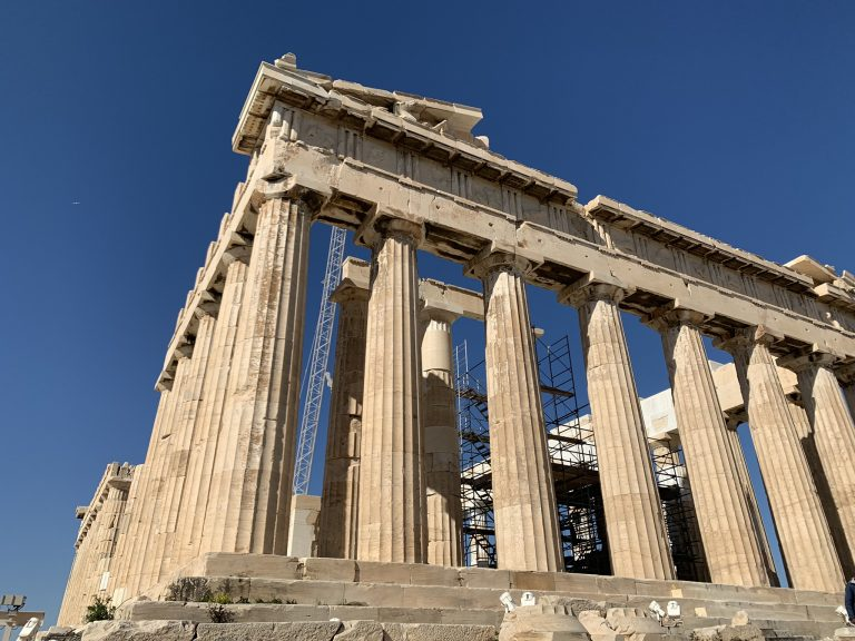 The Parthenon Temple on Acropolis