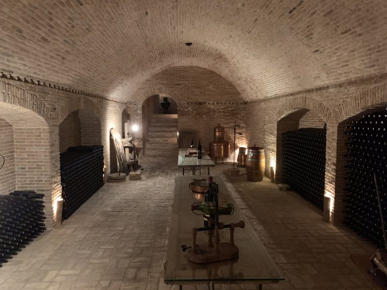 Winery Cellar of a 100 years old Winery in Athens