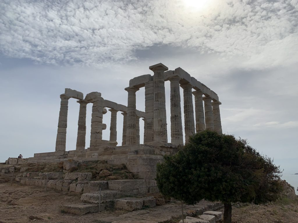 The Temple of Poseidon At Sounion on a summer day