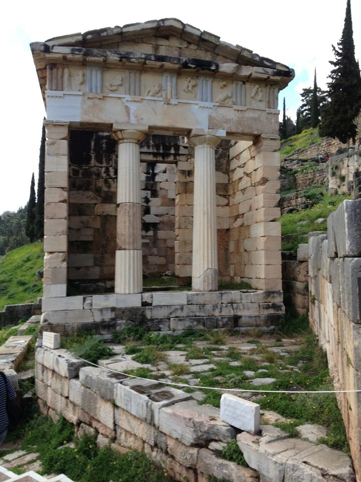 The Athenian Treasury at Delphi, Delphi Day Trip From Athens