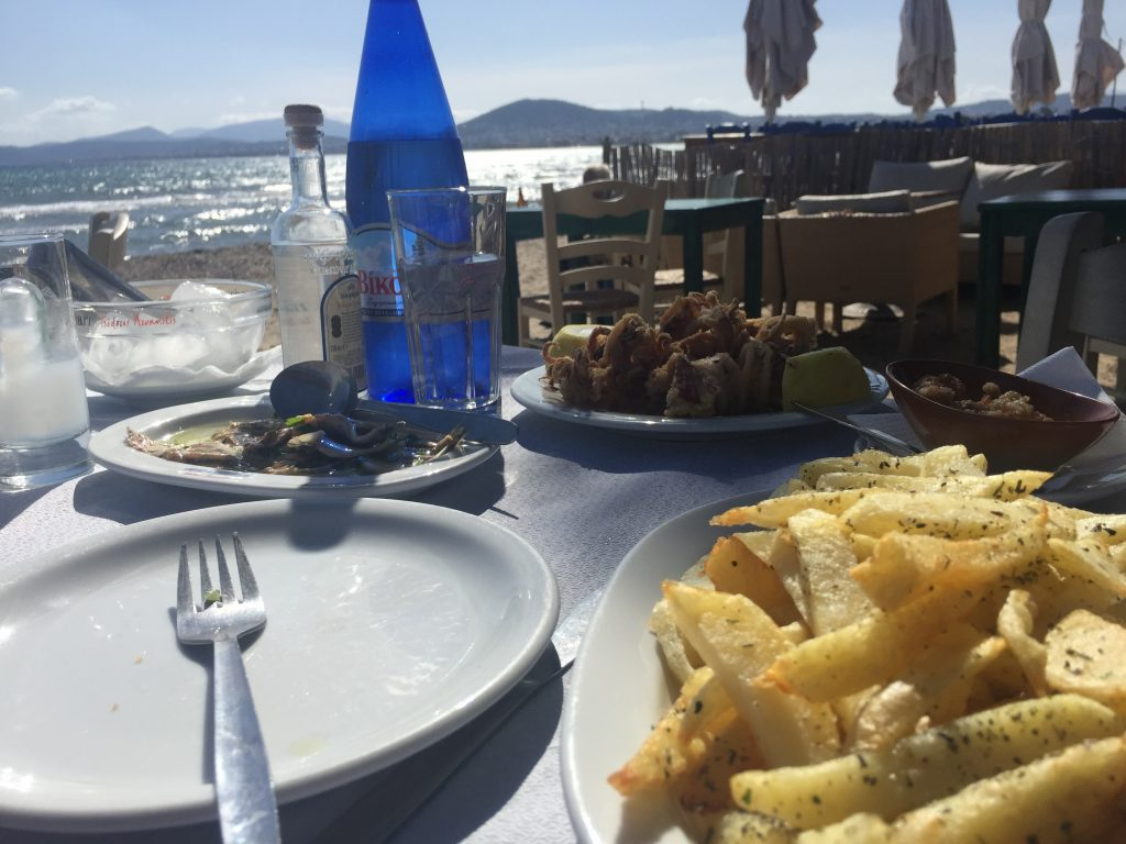 Greek Food Seaside Taverna