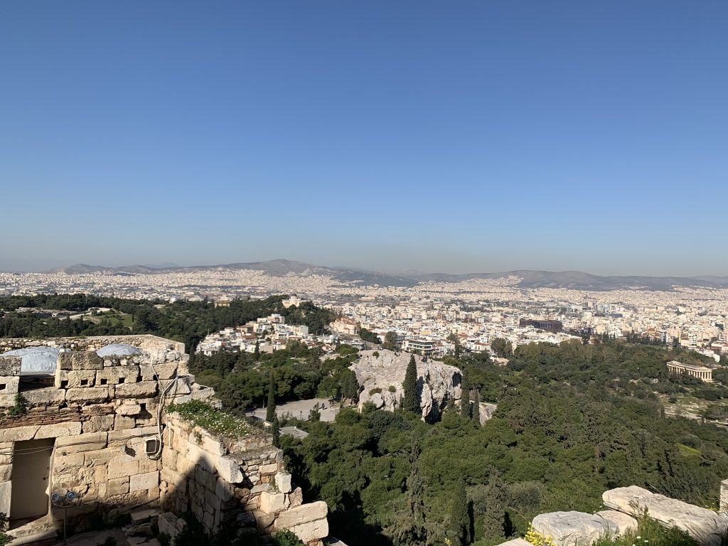 Areios Pagos view from Acropolis, Acropolis Athens Private Tour