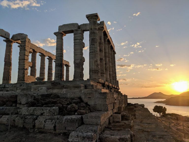 Sunset at the Temple of Poseidon Cape Sounion