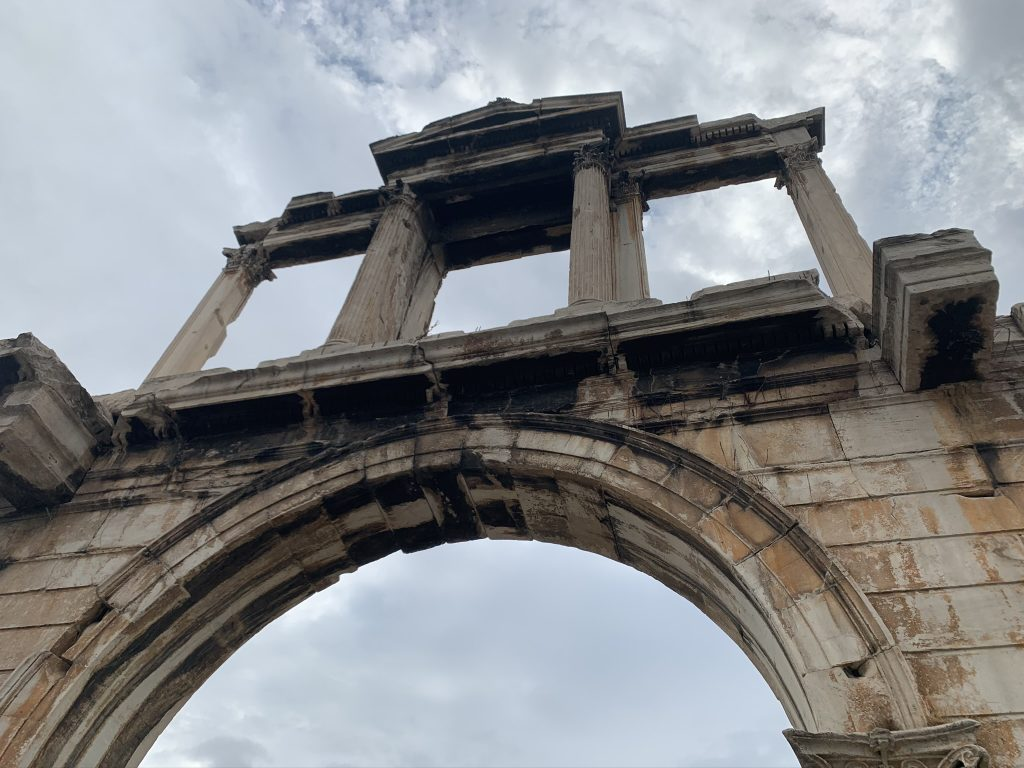 The Hadrian Arch from below