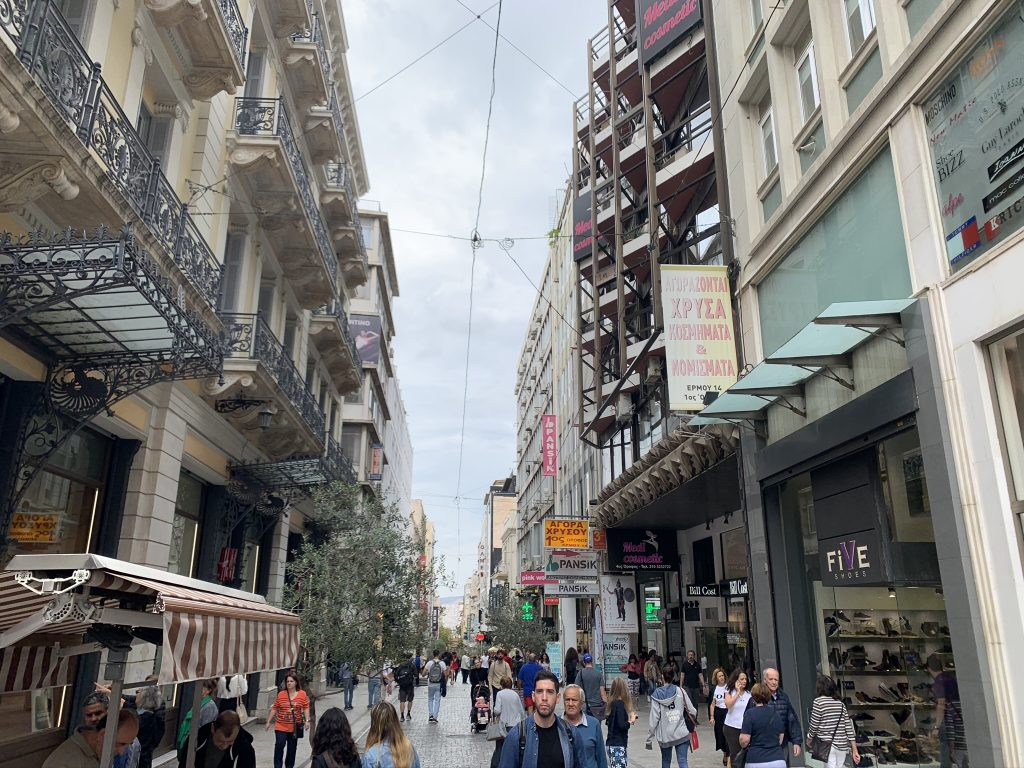 Shopping Ermou street
