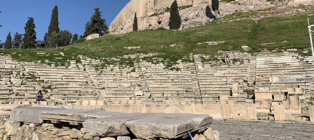 The beautiful ruins of the ancient Theater Of Dionysus, Acropolis Private Tour