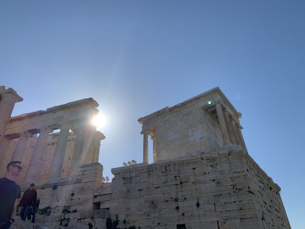 The Temple Of Nike from below, Acropolis Private Tours