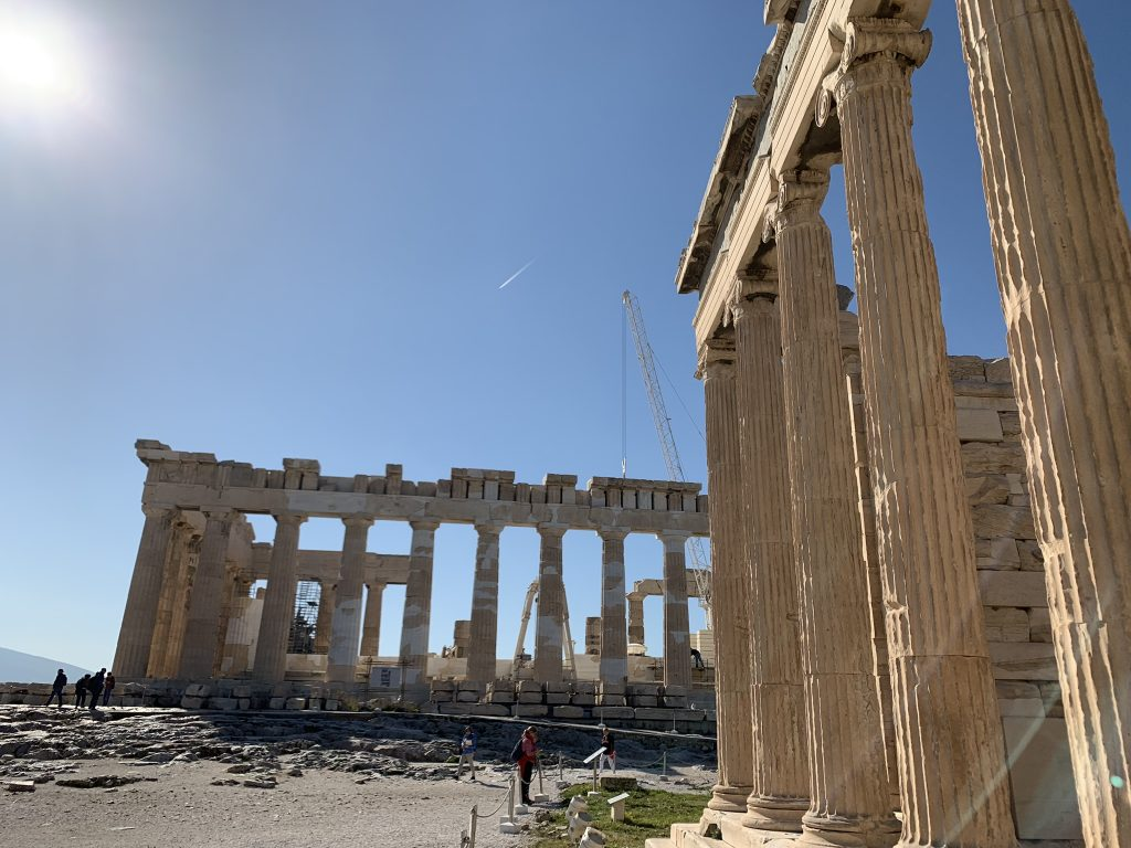 View of Parthenon from Erechtheion - Acropolis Private Tours