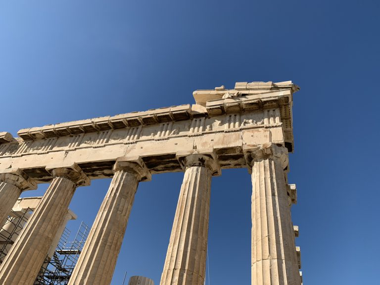 Temple of Parthenon from Below