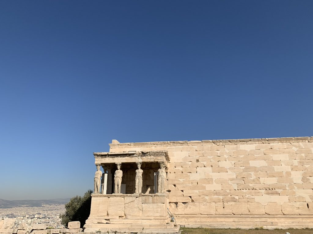 The porch of Cariads at Erechtheion, Acropolis Private Tours