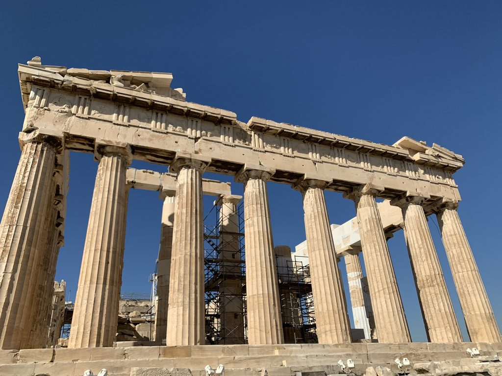 The Temple of Parthenon from below